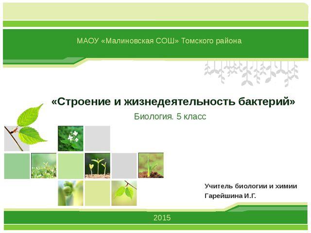 «Строение и жизнедеятельность бактерий» Учитель биологии и химии Гарейшина И....