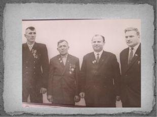 Встреча героев войны и труда с учителем – краеведом Манченко В.И.