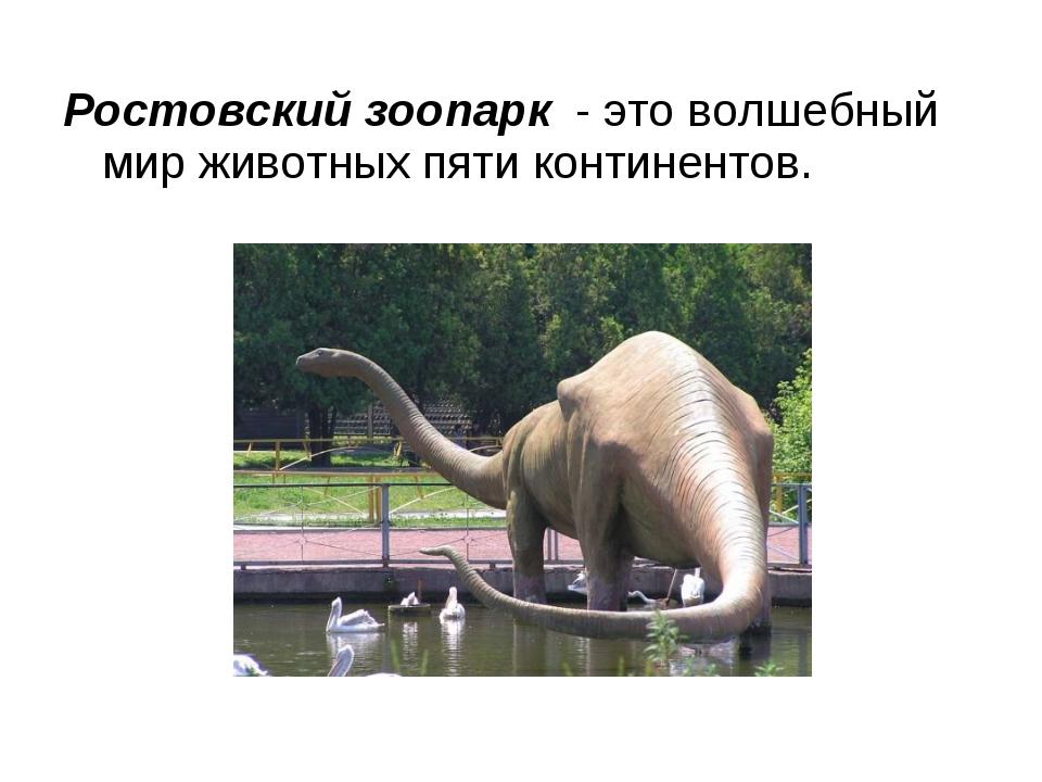 Ростовский зоопарк - это волшебный мир животных пяти континентов.