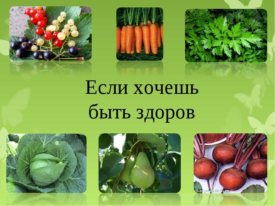 Если хочешь быть здоров