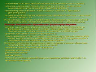 ·организацию часа активных движений (динамической паузы) между 3‑м и 4‑м урок