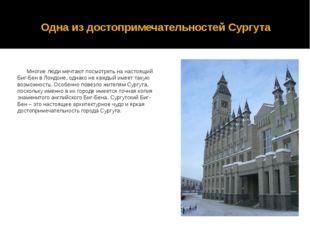 Одна из достопримечательностей Сургута Многие люди мечтают посмотреть на наст