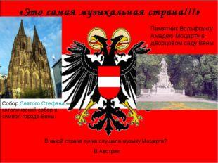 «Это самая музыкальная страна!!!» Собор Святого Стефана — католический собор