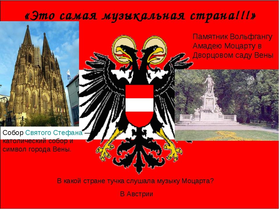 «Это самая музыкальная страна!!!» Собор Святого Стефана — католический собор...