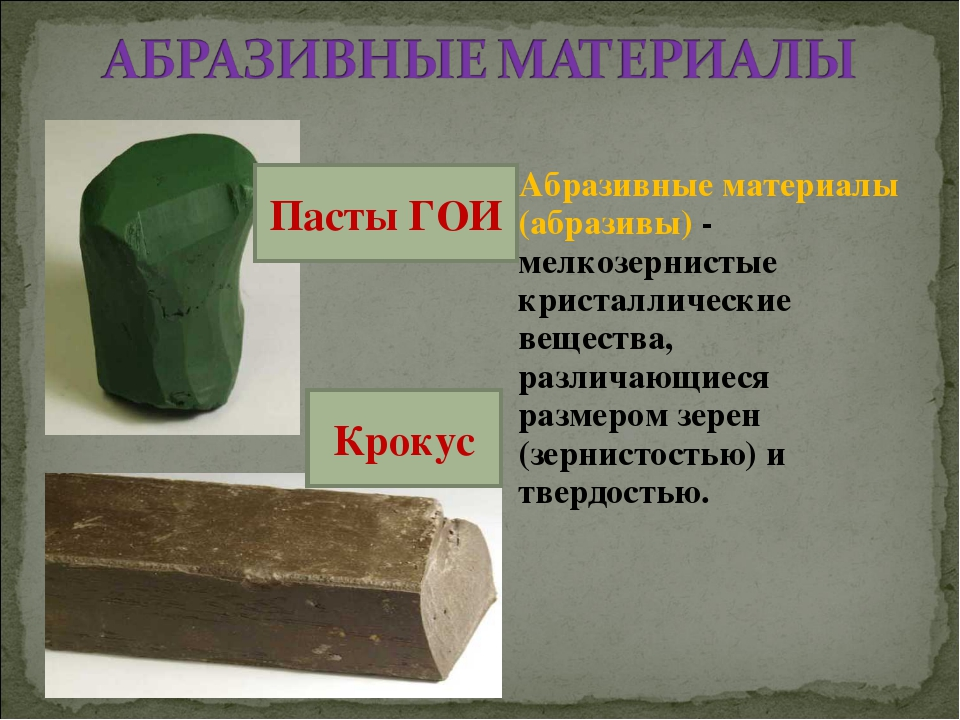 Абразивные материалы (абразивы) - мелкозернистые кристаллические вещества, ра...