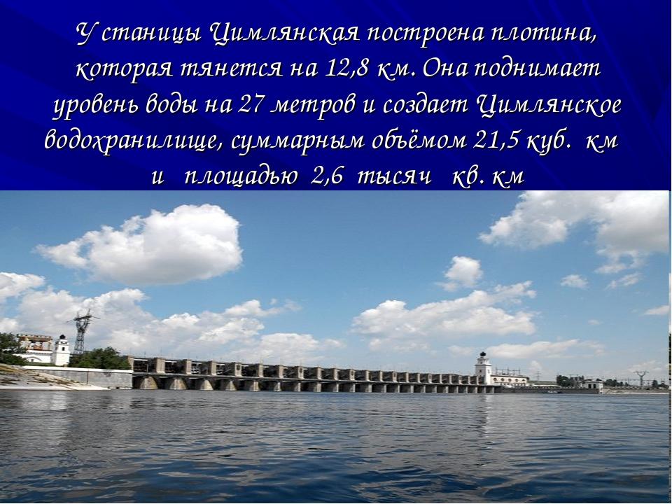 У станицы Цимлянская построена плотина, которая тянется на 12,8 км. Она подни...