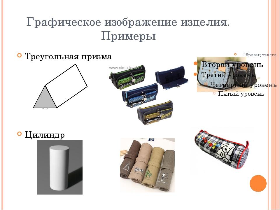 Графическое изображение изделия. Примеры Треугольная призма Цилиндр