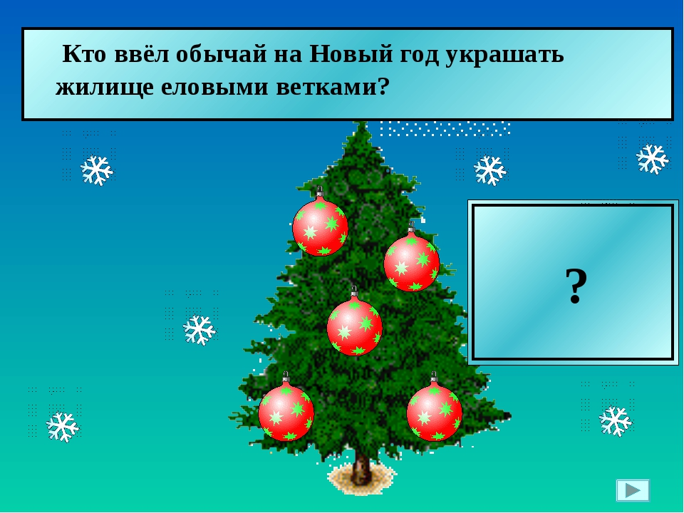 Пётр I  Кто ввёл обычай на Новый год украшать жилище еловыми ветками? ?