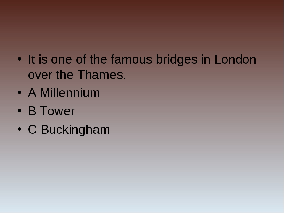 It is one of the famous bridges in London over the Thames. A Millennium B Tow...