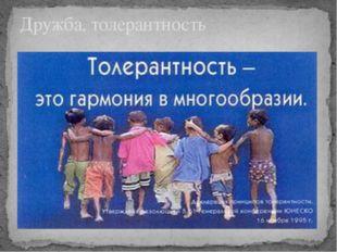 Дружба, толерантность