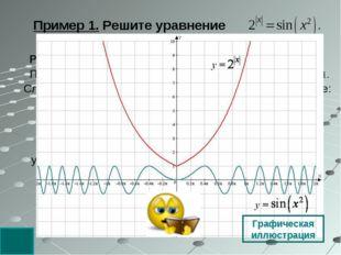 удовлетворяет второму уравнению. Решение. Оценим обе части уравнения. При все