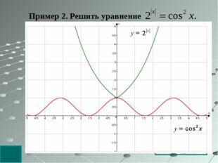 Пример 2. Решить уравнение Решение: Оценим обе части уравнения. Следовательно