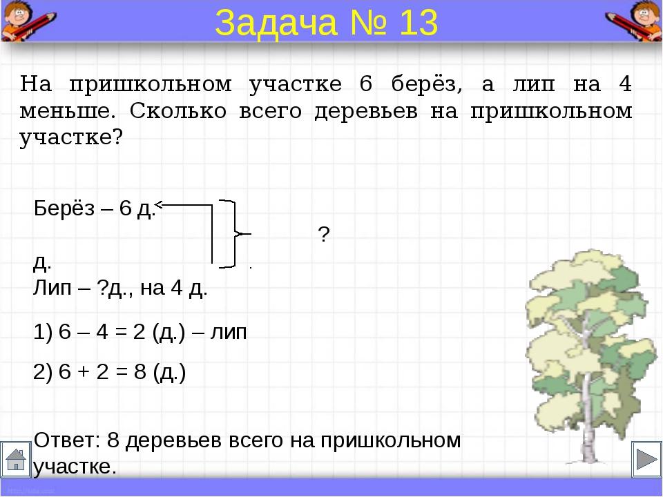 Решение задач 2 класс
