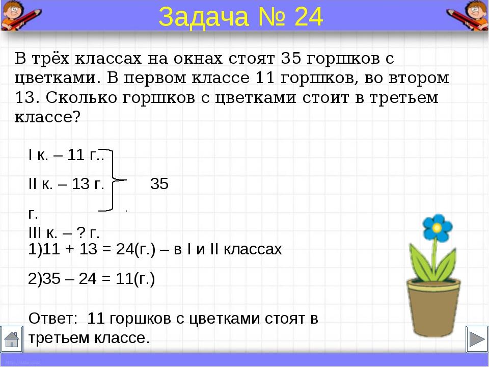 Как записать решение задачи 1 класс