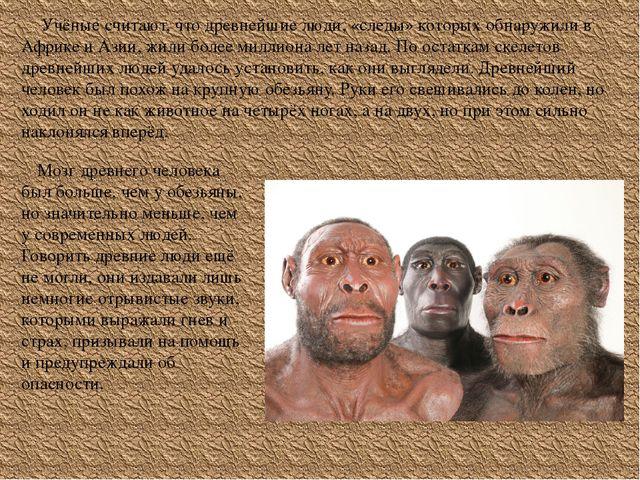 Учёные считают, что древнейшие люди, «следы» которых обнаружили в Африке и А...