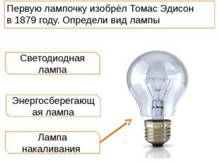 Лампа накаливания Энергосберегающая лампа Светодиодная лампа Первую лампочку