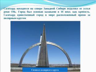 Салехард находится на севере Западной Сибири недалеко от устья реки Обь. Горо