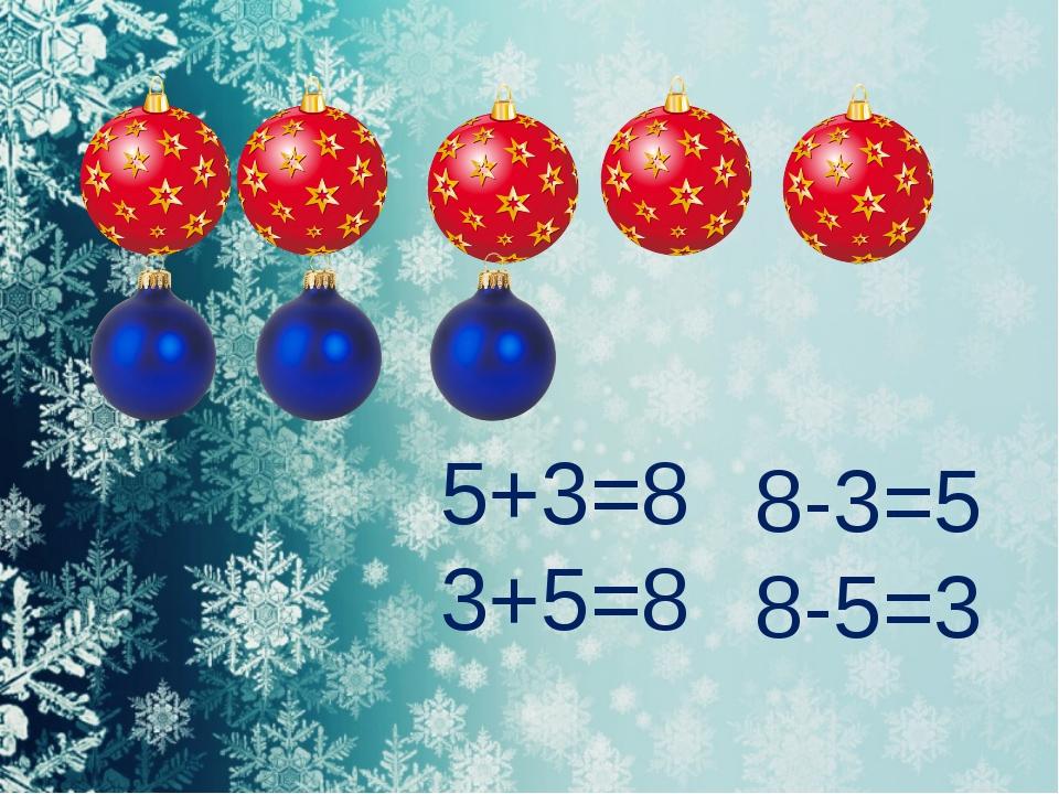 5+3=8 3+5=8 8-3=5 8-5=3 FokinaLida.75@mail.ru