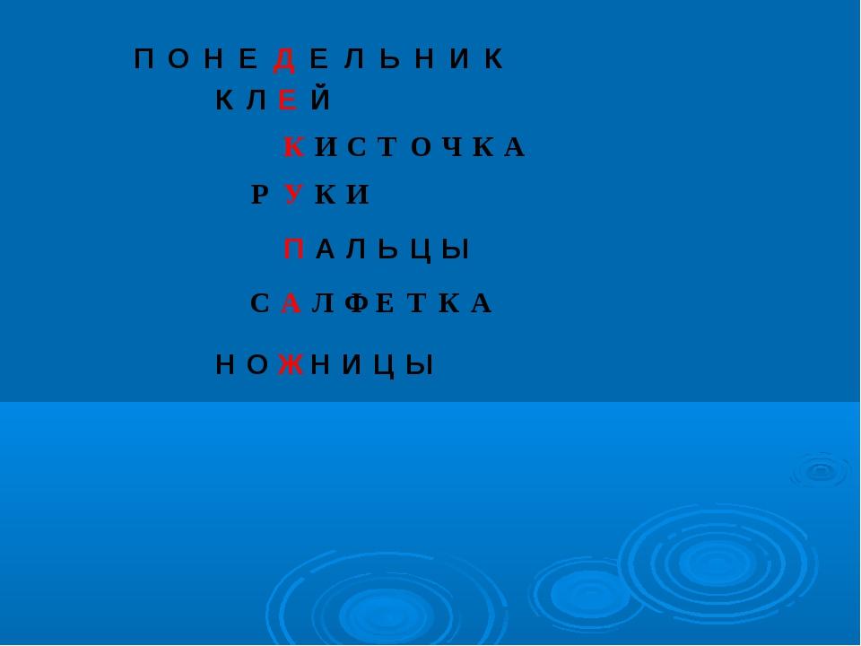 НОЖНИЦЫ ПОНЕДЕЛЬНИК КЛЕЙ КИСТОЧКА РУКИ ПА...