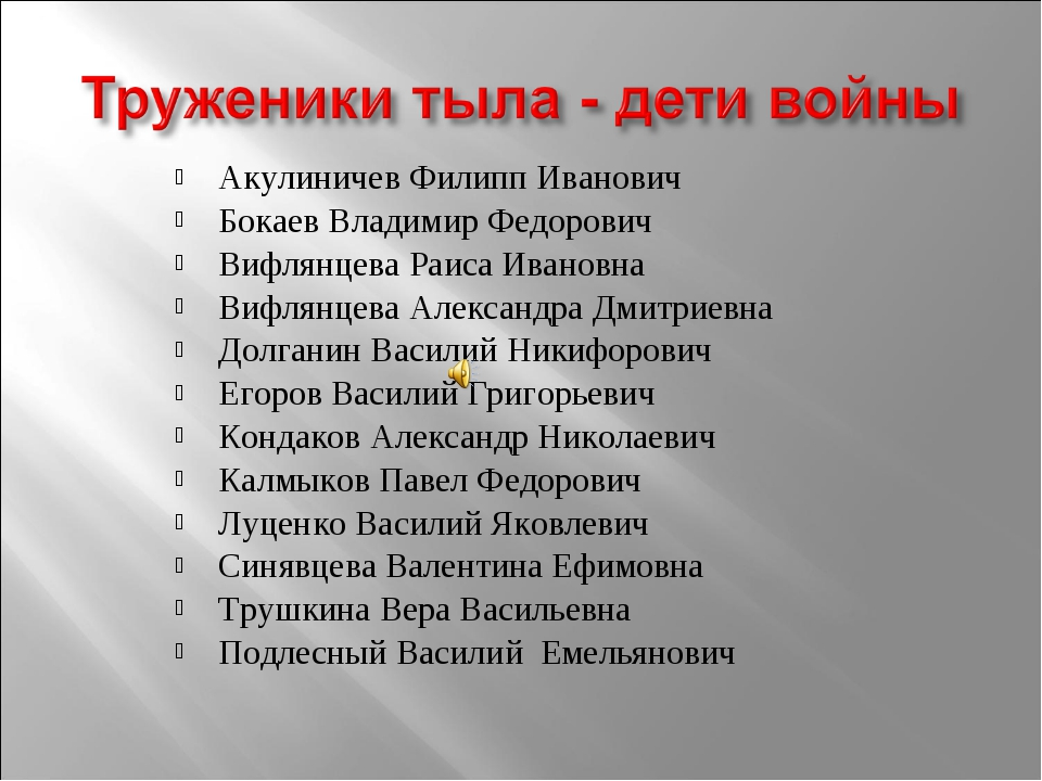Акулиничев Филипп Иванович Бокаев Владимир Федорович Вифлянцева Раиса Ивановн...