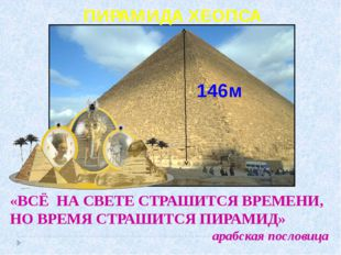 ПИРАМИДА ХЕОПСА «ВСЁ НА СВЕТЕ СТРАШИТСЯ ВРЕМЕНИ, НО ВРЕМЯ СТРАШИТСЯ ПИРАМИД»