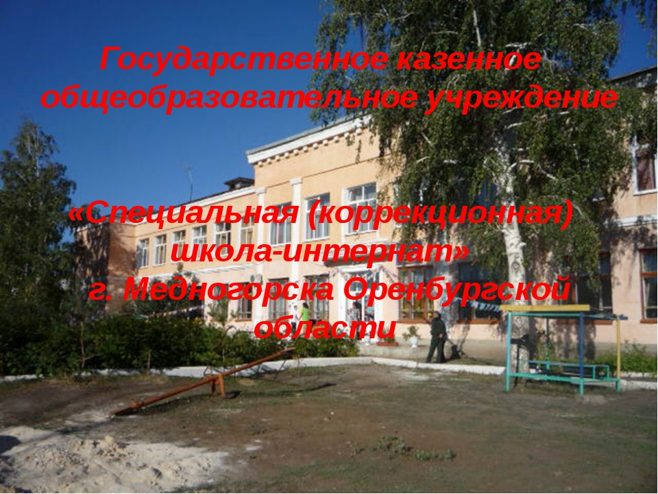 Государственное казенное общеобразовательное учреждение «Специальная (коррекц...