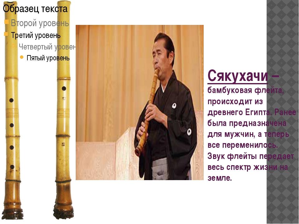 Сякухачи – бамбуковая флейта, происходит из древнего Египта. Ранее была предн...
