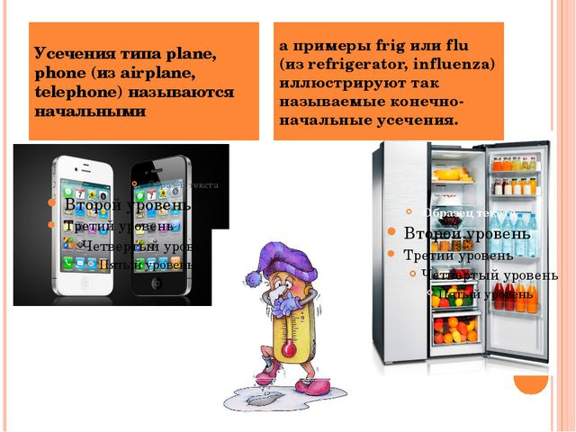 Усечения типа plane, phone (из airplane, telephone) называются начальными а п...