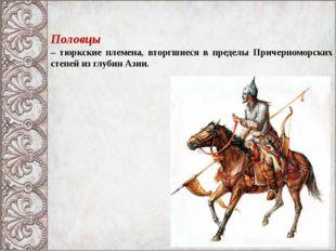 Половцы – тюркские племена, вторгшиеся в пределы Причерноморских степей из гл