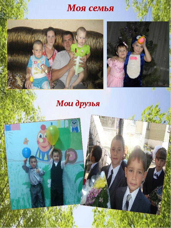 Моя семья Мои друзья