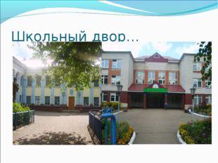 Школьный двор…