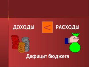 ДОХОДЫ РАСХОДЫ Дефицит бюджета