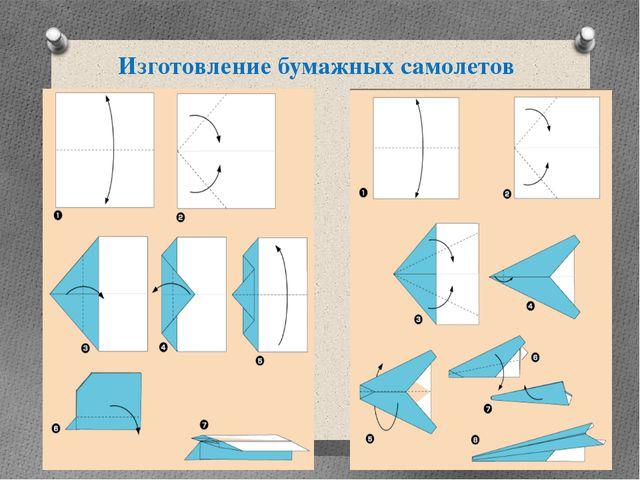 Изготовление бумажных самолетов