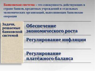 Презентация на тему Банковская система  слайда 9 Банковская система это совокупность действующих в стране банков кредитных