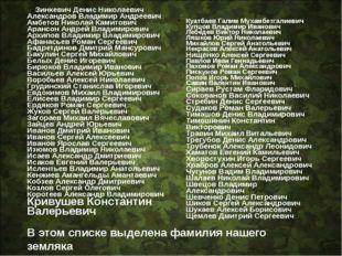 Зинкевич Денис Николаевич Александров Владимир Андреевич Амбетов Николай Кам