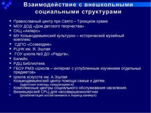 Православный центр при Свято – Троицком храме МОУ ДОД «Дом детского творчеств
