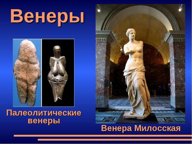 Венеры Венера Милосская Палеолитические венеры
