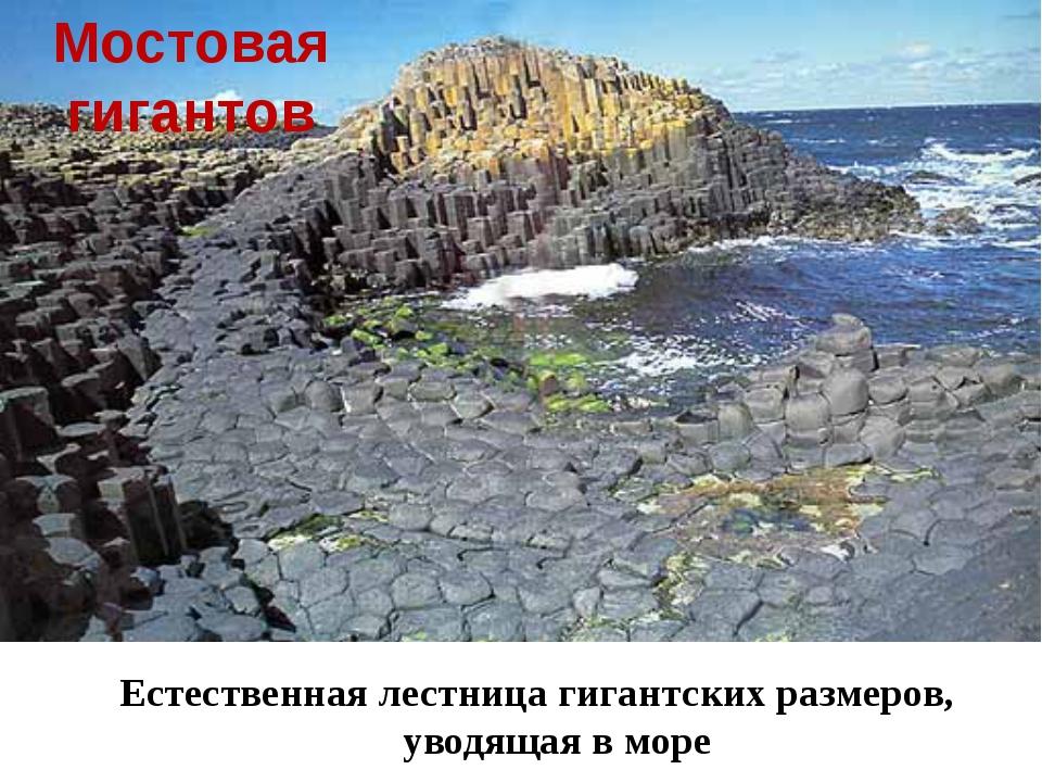 Мостовая гигантов Естественная лестница гигантских размеров, уводящая в море