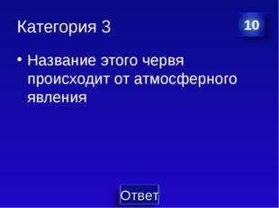 Категория 3 Название этого червя происходит от атмосферного явления