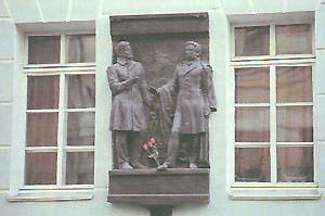 Мицкевич с Пушкиным.