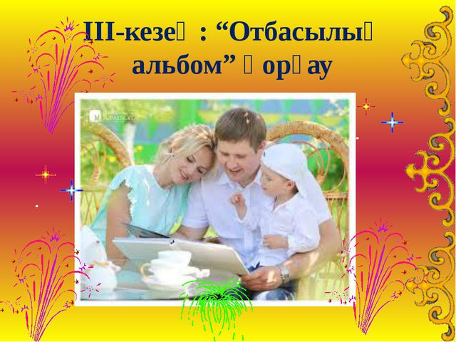 """ІІІ-кезең: """"Отбасылық альбом"""" қорғау"""