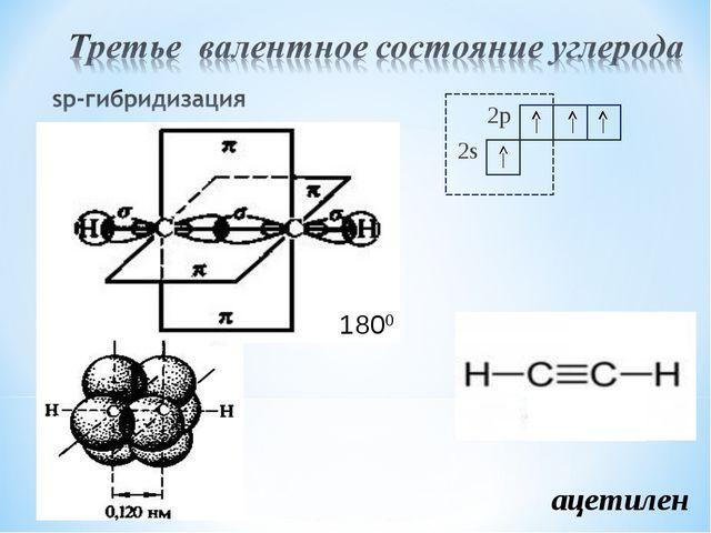 2p 2s 1800 ацетилен