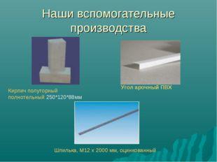 Наши вспомогательные производства Кирпич полуторный полнотельный 250*120*88мм