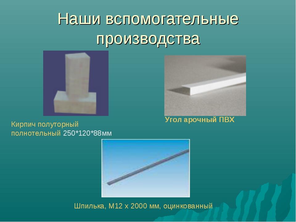 Наши вспомогательные производства Кирпич полуторный полнотельный 250*120*88мм...