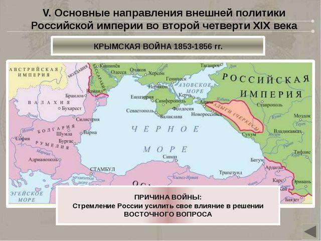 СТАМБУЛ (КОНСТАНТИНОПОЛЬ) VI. Основные направления внешней политики Российск...