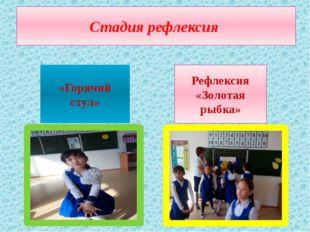 Стадия рефлексия «Горячий стул» Рефлексия «Золотая рыбка»