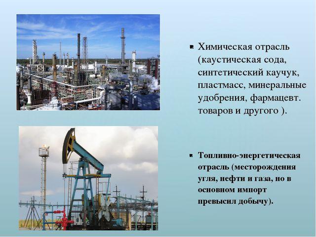Химическая отрасль (каустическая сода, синтетический каучук, пластмасс, минер...