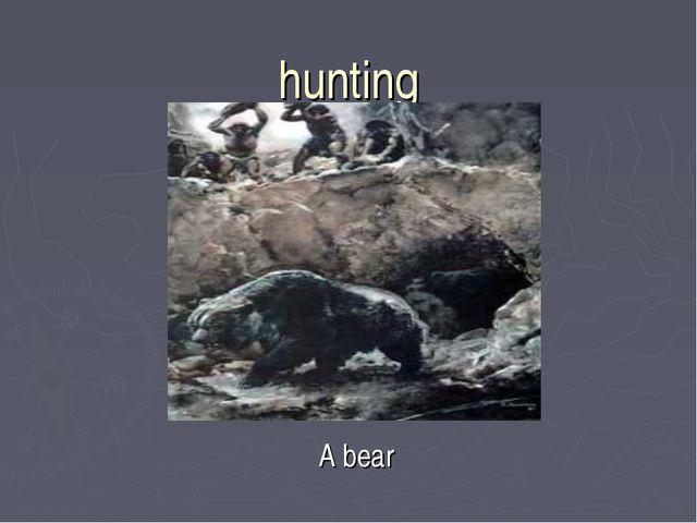 hunting A bear