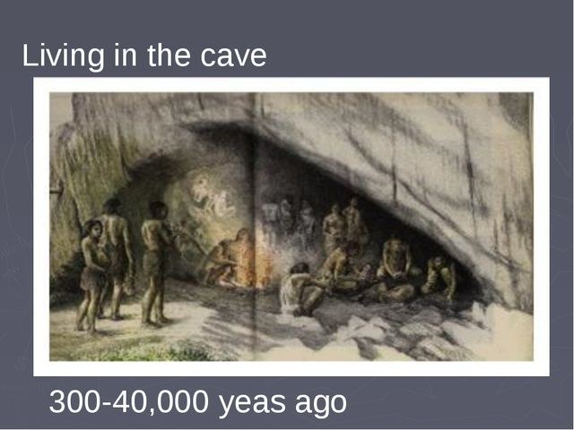 Living in the cave 300-40,000 yeas ago