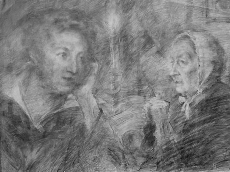 Иллюстрации к стиху пушкина няне